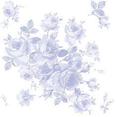 """Lake Maria Summer Roses"" in blue-violet, by LilyOake on Spoonflower - custom fabric, wallpaper and gift wrap, all print on demand!"