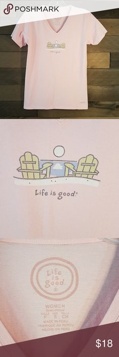 f44df2ae5054 Life is Good Tee Beach Pink Small An Excellent Tee Shirt that has never  been worn