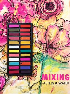 Chalk pastels alone are a really fun supply but when you mix pastels with water you are able to use them in a totally different way! While you cannot turn pastels into paint, they are actually water s