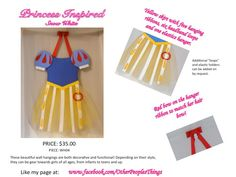 Snow White Princess Dress Accessory Holder and Wall Decoration Order only. $35.00, via Etsy.