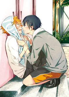 Nagisa & Haru | Free! #anime #shounen-ai #BL! Awwwwwww!
