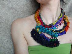 Silk crochet necklace crochet necklace boho by WearitCrochet