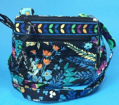 Vera Bradley Midnight Blues Little Flap Hipster Cross Body Shoulder Bag Retired #VeraBradley #ShoulderorCrossBody