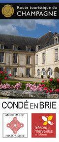 Détail de la Cour d'honneur du Château des Princes de Condé. Condé en Brie est  situé sur la Route touristique du Champagne dans le Sud de l'Aisne 02 - [cliché Château de Condé - AyPR ]