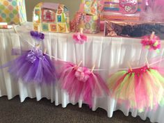 Each Table Made A Tutu For The Baby Along With A Matching Hair