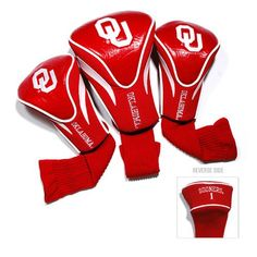 Oklahoma Sooners NCAA 3 Pack Contour Fit Headcover