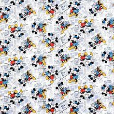 Disney Mickey & Minnie Vintage All Over The News