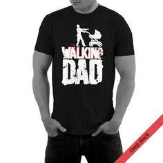 "Witziges T-Shirt für Papas mit Print ""Walking Dad"", Geschenk zum Vatertag / funny gift idea for Father's Day made by Supr-Store via DaWanda.com"