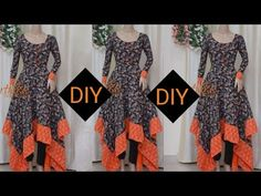 Beautiful handkerchief frock with patch at borders Kurti Neck Designs, Dress Neck Designs, Blouse Designs, Stylish Dresses, Nice Dresses, Dress Indian Style, Abaya Style, Indian Dresses, Saree Tassels Designs
