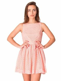 American Apparel Lace Sun Dress Medium Peach