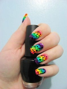 Ive always wanted rainbow leopard nails!