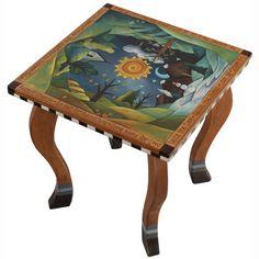 Sticks Square End Table END006 S312834, Artistic Artisan Designer Tables