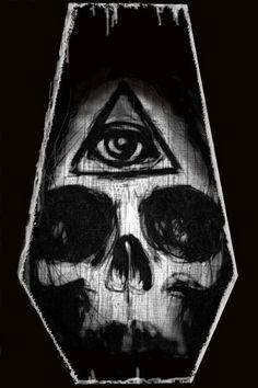 Illuminati Skull canvas print by ShayneoftheDead on Etsy, $15.00