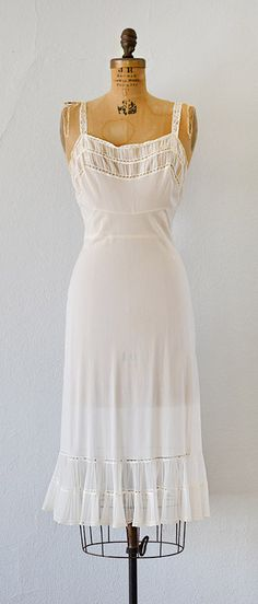 vintage 1940s PETITE ANTHEMIS slip from Adored Vintage #1940s #40sslipdress