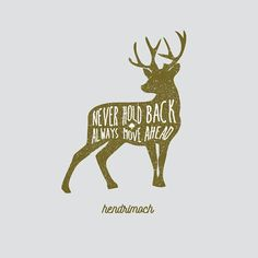Deer typography