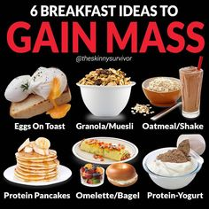 Delicious Healthy Breakfast Foods for Weight Loss Need some breakfast ideas to help you gain weight and build muscle? Food To Gain Muscle, Muscle Food, Build Muscle, Vegan Muscle, Muscle Building Foods, Muscle Weight, Oatmeal Protein Shake, Protein Shakes, Weight Gain Meal Plan