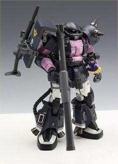 RG 1/144 MS-06R-1A Zaku II Black Tri-Star Ver. - Customized Build