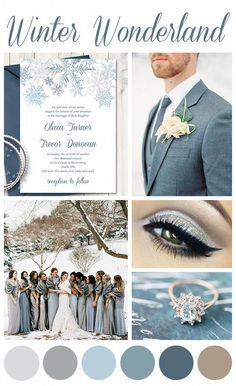 Wedding Planning How to Pick Your Wedding Colors - Looking for inspiration when it comes to your wedding palette? This is the best way to figure out which wedding colors will work best for you. Winter Wedding Colors, Winter Wedding Inspiration, Fall Wedding, Dream Wedding, Blue Winter Weddings, Winter Wonderland Wedding Theme, Wedding Tips, Grey Wedding Colors, Winter Themed Wedding