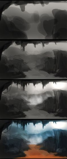 Environment Digital Painting process step by step and video