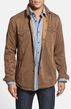 Jeremiah 'Colt' Regular Fit Sueded Cotton Blend Shirt Jacket | Nordstrom