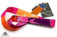 Buntes Patchwork Schlüsselband von #Lieblingsmanufaktur: orange und pink - leuchtend schön