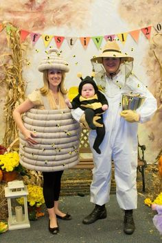 Cute family costume! Beehive, bee keeper and of course a cute little honey bee! by alfreda