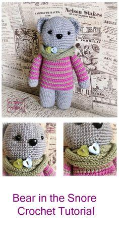 Bear in the Snore Crochet Tutorial #amigurumi #amigurumipattern #amigurumitutorial