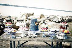 Nautical dessert table
