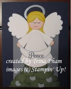 Punch Art Christmas Angel by contacttrina - Cards and Paper Crafts at Splitcoaststampers