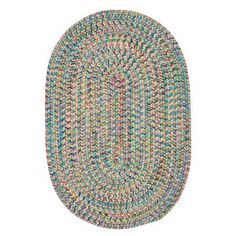 Bungalow Rose Besiktas Hand-Woven Blue/Orange Area Rug Rug Size: Oval 2' x 12'