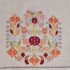 Hand embroidered table cloth, cross-stitch table cloth, linen tablecloth, table topper, table runner, Bulgarian embroidery