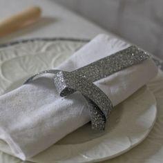 Silver Glitter Ribbon available from www.theweddingofmydreams.co.uk #wedding #ribbon #glitter