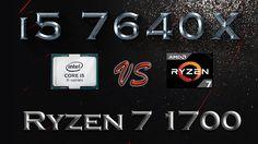 i5 7640X vs Ryzen 7 1700 BENCHMARK   Hitman Total War Tomb Raider Far Cr...