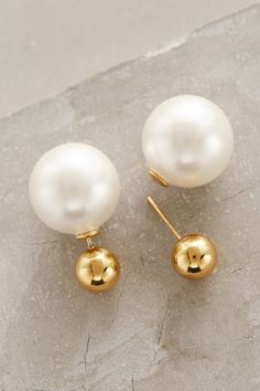 Palazzo Pearl-Backed Studs #anthrofave