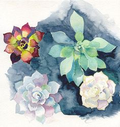 Ashley Barron aquarelle de fleurs