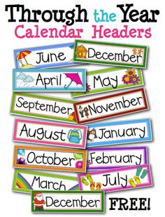 FREE monthly labels for classroom calendar – School Calendar İdeas. Preschool Calendar, Classroom Calendar, Kindergarten Calendar Board, Teaching Calendar, Classroom Board, Bulletin Boards, Kindergarten Classroom Decor, Classroom Organization, Kindergarten Learning