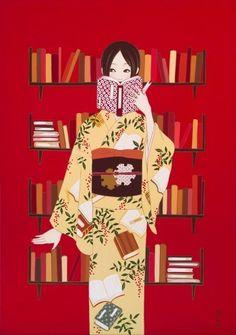 Lectora oriental (ilustración de Hiromi Tsuji)