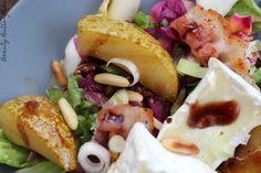 Green August - Salat mit karamellisierten Birnen und Weichkäse