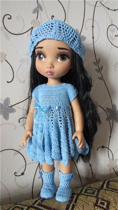 Doll Clothes / Disney Animator Doll Pocahontas / Crochet