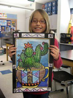 Jamestown Elementary Art Blog: 5th Grade Mexican cacti!