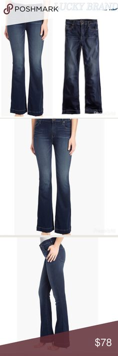 New Lucky Brand Flare Jeans Size 29 Dark Blue NWT LUCKY BRAND Brooke flare jeans. Dark blue. Size 29. 92% cotton/6% eme/2% ea Lucky Brand Jeans Flare & Wide Leg