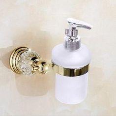 Luxury Crystal Silver Bathroom Accessories Set Gold Polished Brass Bath Hardware Set Wall Mounted Bathroom Products banheiro