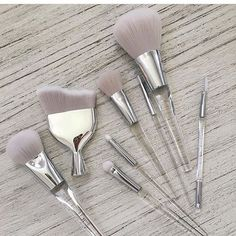 Makeup Brushes New ELF cosmetics brushes Elf Makeup, Love Makeup, Makeup Geek, Makeup Tools, Skin Makeup, Beauty Makeup, Makeup Ideas, Contouring Makeup, Makeup Box