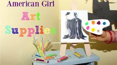 These American Girl doll crafts are simple and easy to make. The American Girl Doll Lip Gloss & Eyeshadow turned out perfect. American Girl House, American Girl Crafts, Ag Doll Crafts, Diy Doll, Ag Dolls, Girl Dolls, Barbie Dolls, Girls Furniture, Doll Furniture