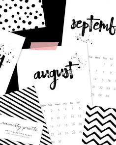 Calendrier 2016 minimaliste http://www.homelisty.com/21-calendriers-deco-design-pour-2016/