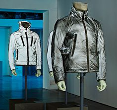 """Stone Island_Reflective Research '992 – '015 """"Since the first jacket in 1992, the textile manipulations of Stone Island on the theme of light reflection. A retrospective, on the occasion of the TORTONA DESIGN WEEK."""" """"Stone Island Showroom Via Savona 54_Milan From April 14th to 19th"""""""