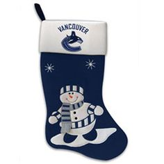 Vancouver Canucks Snowman Fabric Stocking by Scottish Christmas. $14.99. Each snowman felt stocking features the official team colors with a snowman on the stocking and team logo on the cuff.  A great holiday gift idea for any fan! Comes packaged in a clear plastic bag with header card.. Save 46% Off!