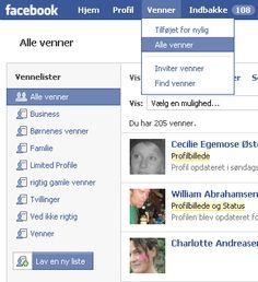 venneliste Sådan deles facebook venner op i lister