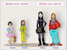 Me encanta escribir en español: ¿Cómo eran antes? y ¿Cómo son ahora?
