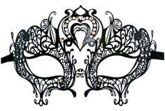 Filigree Metal Mask 'Heart Shape'